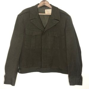Vintage Military Olive Green Field Jacket Size S/M